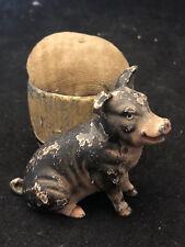 Essuie Plume Cochon Plomb Polychrome Vers 1900 Antique French Pig