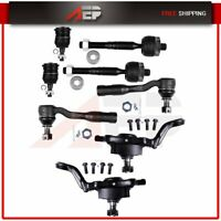 8 PC Front Upper Lower Ball Joint Inner Outer Tierod Suspension Kit