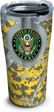 Tervis 1286604 Army Stainless Steel Tumbler with Clear and Black Hammer Lid