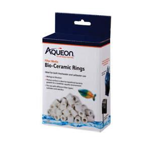 Aqueon Aquarium Water Filter Media Bio-Ceramic Rings, 1 lb.; marine/freshwater