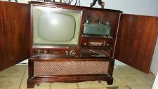 1950's Philco Antique Television Radio Record Player Non Working