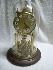 "Vintage Kern 400 Day Anniversary Clock 12"" Tall with Key Germany K.u.S."