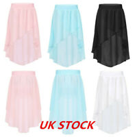 UK Girls Kid Dance Chiffon Skirt Ballet Latin Dress Gymnastics Dancewear Costume