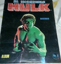 The Incredible Hulk 100 unopen packs plus Album / Dist. Reyauca (Rare).-