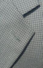 NEW Mens 50R Tweed Houndstooth Gray Blue Blazer Sport Coat Jacket ALL SEASON