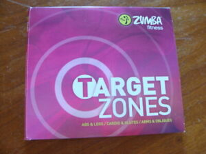 Zumba Fitness Target Zones Three Workout Exercise DVD Set, Full Body, Abs, Glute
