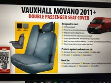 HDD Vauxhall Movano 2010> Double Passenger Seat Cover BLK 491 Heavy Duty Design