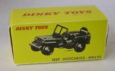 Repro box DINKY Nº 80 B jeep hotchkiss willys -