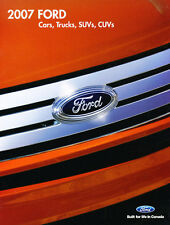 2007 Ford 20-page Sales Brochure Catalog - Edge F-150 Truck Ranger Escape Fusion