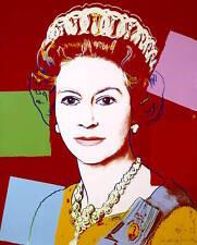 Andy Warhol Queen ELIZABETH  red Canvas wall pop art  20 x 30 Inch A1 large