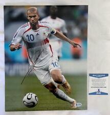 Zinedine Zidane signed autograph 11x14 photo World Cup France Beckett BAS