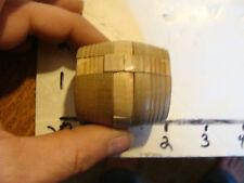 Vintage Puzzle: tiny wood BURR puzzle cylinder