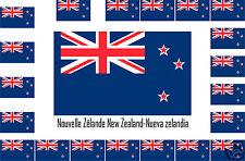Assortiment 10 autocollants Vinyle sticker drapeau Nouvelle-Zélande-New-Zealand