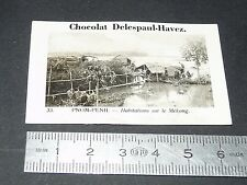 PHOTO CHOCOLAT DELESPAUL-HAVEZ 1950 COLONIE INDOCHINE CAMBODGE PNOM-PENH MEKONG