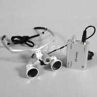 Profi Dental 3.5 x 420mm Binokularlupe Loupes Kopflupe Lupenbrille mit Headlight