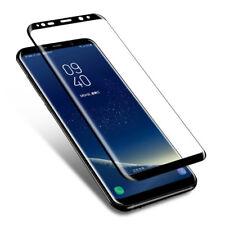 Cubierta de pantalla completa Samsung Galaxy S8 protector de pantalla de vidrio templado curvado Negro
