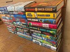 Lot of 10 Clive Cussler Hardcover Books Dirk Pitt Fargo Oregon Kurt Bell *RANDOM