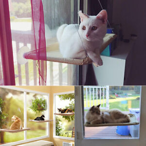 Cat Bed Hammock Perch Basking Cushion Window Bed Hanging Shelf Seat up to 20KG