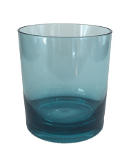Whiskey Glasses Scotch or Old-Fashioneds Turquoise Plastic Drinking Glass 14oz 8