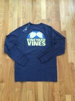 NWT Boy's LS Vineyard Vines Soccer Ball Cutoff Whale Pocket T-Shirt M Or X-Large