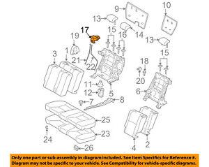 Scion TOYOTA OEM 05-16 tC Rear Seat-Lever Right 7205721010B0