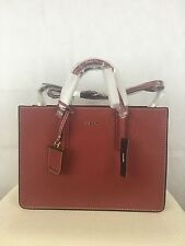Brand New Red DKNY Authentic Designer Leather Shoulder Tote Bag RRP £265 Sale