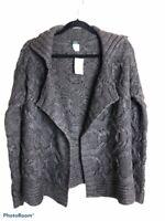 J.CREW Womens Handknit Cardigan Sweater Brown Long Sleeve Open Front S New