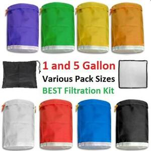 FILTRATION BUBBLE BAGS BAG HYDROPONIC GROW HERBAL ICE EXTRACT KIT SET GALLON 1 5