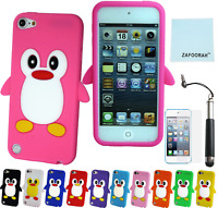 Penguin Silicone Gel Case Cover For Apple iPod Touch 5th & 6th Generation 5/6