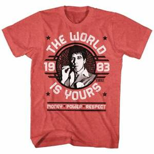 Scarface World is Yours Men's T shirt Tony Montana Quote by Al Pacino Tee