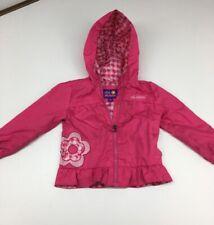 Pink Platinum Girls Zippered Hooded Windbreaker Jacket Water Resistant Size 3T