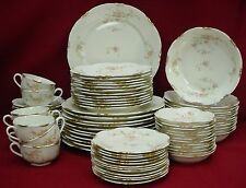 WARWICK china OLD ABBEY pattern 80-piece SET SERVICE for 12 (minus 4 cup)