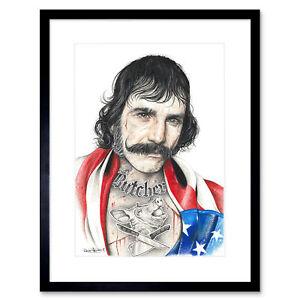 Wayne Maguire Tattooed Bill the Butcher Inked Ikon Framed Art Print 12x16 Inch