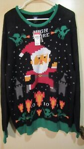 Men's Route 66 Cotton Blend Ugly Xmas Sweater Size 2 XL NWT