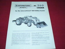 International Harvester Wagner No.260 Loader for 460 Tractor Dealer's Brochure