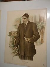 Vintage Color Mens Clothing Art Lithograph #204 From Fall & Winter 1911 & 1912