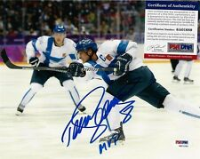 TEEMU SELANNE FINLAND 2014 OLYMPICS SIGNED  8x10 PHOTO PSA/DNA IN THE PRESENCE