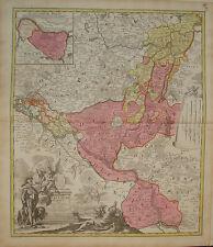 Old map kupferstich Ducat. Lauenburgici Lauenburg Elbe Germany Homann old print