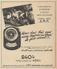 Z9934 Posemètre a cellule photo-électrique LMT -  Pubblicità d'epoca - 1937 Ad