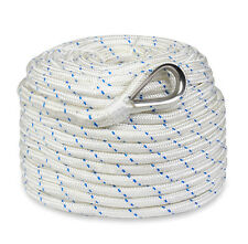"""New 300'x3/8"""" Braided Nylon Boat Anchor Rope/Line with Thimble"""