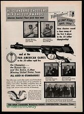 1959 HI-STANDARD Olympic Citation Pistol AD '59 Camp Perry~Pan American Winners