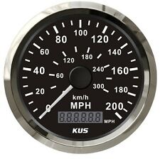 Car Stainless Speedometer 200 MPH GPS 300 km/h Waterproof Auto Gauges Black Face