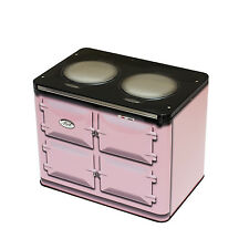 AGA OVEN SHAPED EMBOSSED COOKSHOP TIN ROSE PINK Cake, Biscuit Storage Elite