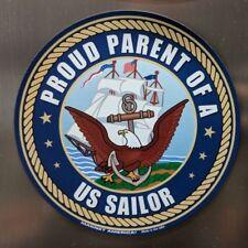"""NEW TWO 5"""" Proud Parent of a US Sailor - Car, Fridge Magnet Vinyl Decal"""