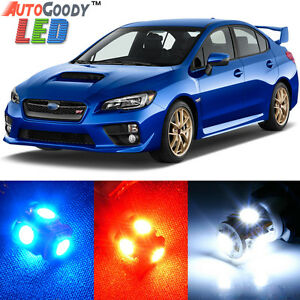 8 x Premium Xenon White LED Lights Interior Package Kit for Subaru WRX STi