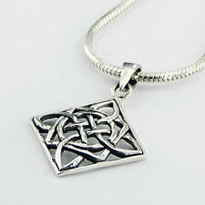 USA Seller Diamond Shaped Celtic Pendant Sterling Silver 925 Best Deal Jewelry