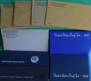 1960 - 1969 TEN Annual United States Mint Proof Sets 50 Coins Lot of 10 Sets