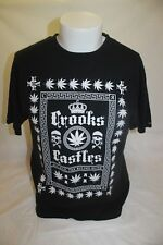 Crooks & Castles Men's Black T Shirt Size Medium All Hail the Ruling Elite