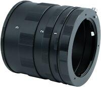 Macro Extension Tube Ring Set for All Pentax PK K Mount K-5II K-5IIs DSLR Camera