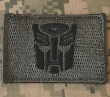 AUTOBOT TRANSFORMERS USA  ARMY ACU DARK VELCRO® BRAND FASTENER MORALE PATCH